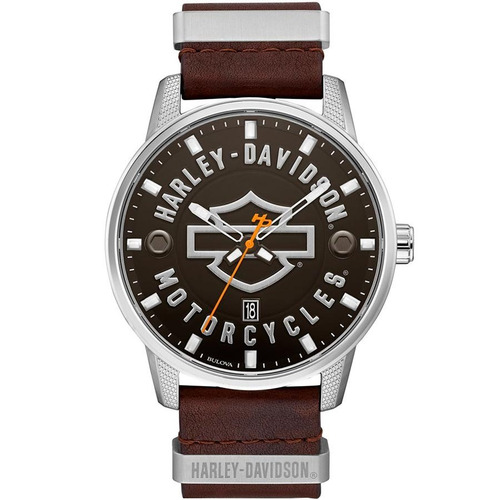 reloj harley davidson 76b178 p/ hombre con fechador e-watch