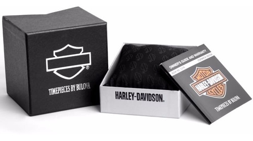 reloj harley davidson bisel con diamantes 76n102