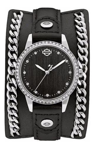 reloj harley davidson by bulova original 76l184