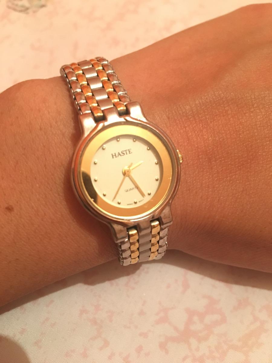 Reloj Haste Del 98 Para Dama An 225 Logo Plateado Y Dorado