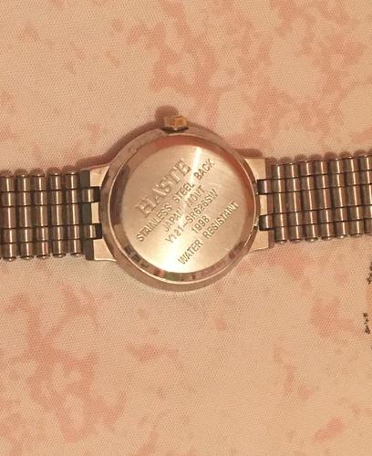 reloj haste del 98 para dama análogo plateado y dorado