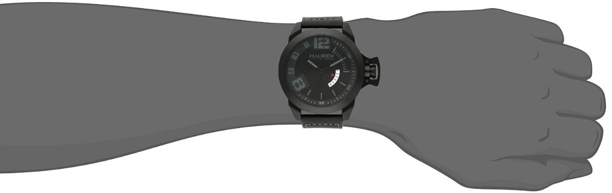 cc732c55efb0 reloj haurex italy negro original nuevo black stainless stee. Cargando zoom.
