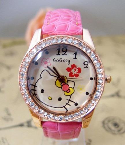 reloj hello kitty  muy llamativo ajustable 2x49 s/