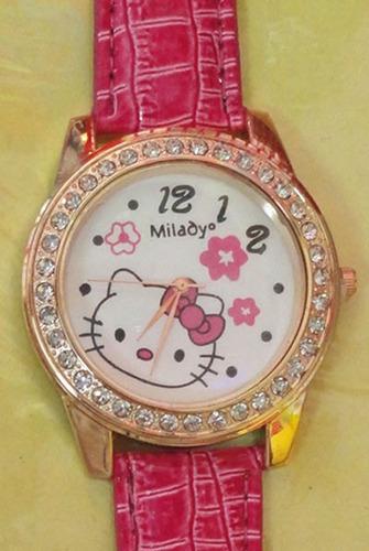 reloj hello kitty rosado, regalo ideal usd 11.00