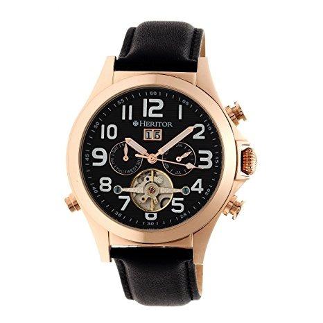 reloj heritor hr2705 negro