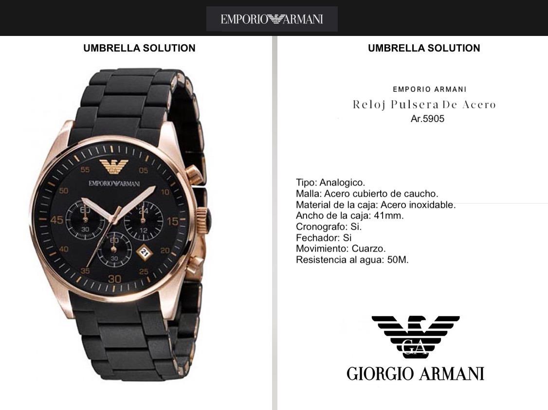 144a8ac9bf6d Reloj Hombre Armani Ar.5905 Original Con Certificado Armani ...