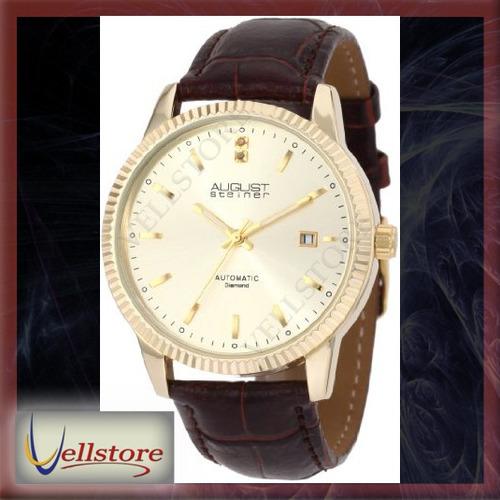 reloj hombre august steiner asa825yg diamond automatic