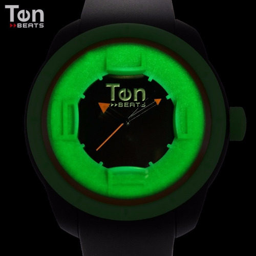 reloj hombre beats verde neón 3d envió gratis