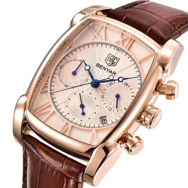 a8cdae263ea8 Reloj Hombre Benyar De Lujo Moda
