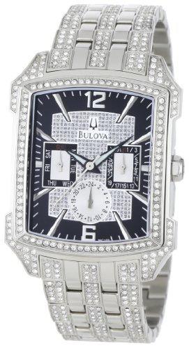 reloj hombre bulova 96c108 crystal striking visual design