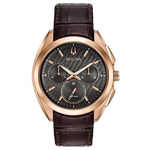 reloj hombre bulova curv chronograph alligator 97a124