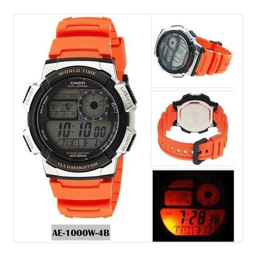 reloj hombre casio ae-1000w naranja digital / lhua store