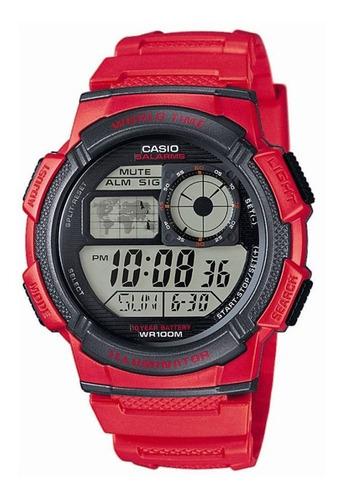 reloj hombre casio ae-1000w rojo digital / lhua store