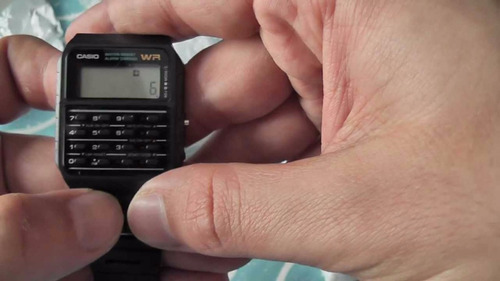 reloj hombre casio ca 53 wr calculadora 8digitos vintage wr