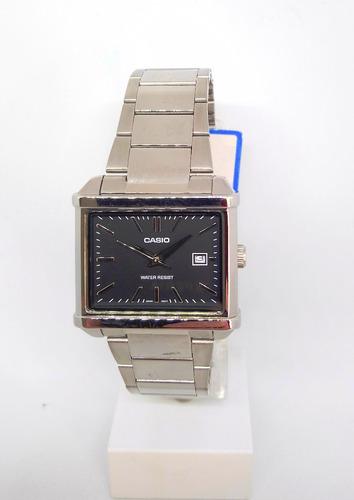 reloj hombre casio clasico cuadrado agente oficial
