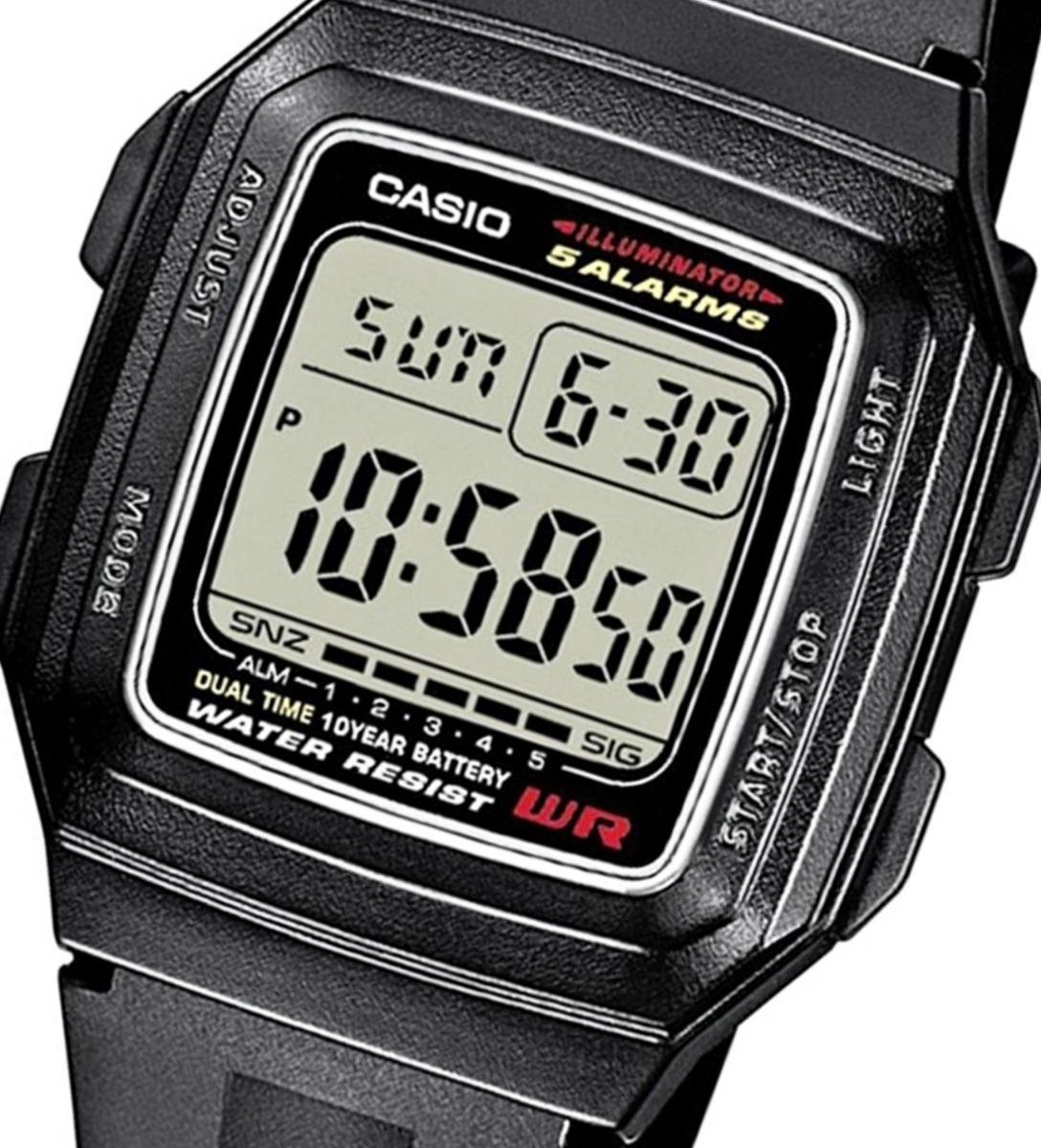 Alarmas Casio 1a Hombre Cronógrafo CodF 201wa Reloj OuPZkXTi