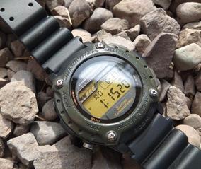 Reloj Hombre Casio Dw 285 Verde Militar Vintage De Colección