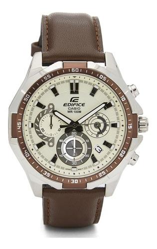 reloj hombre casio edifice cod: efr-554l-7a cuero cronógrafo