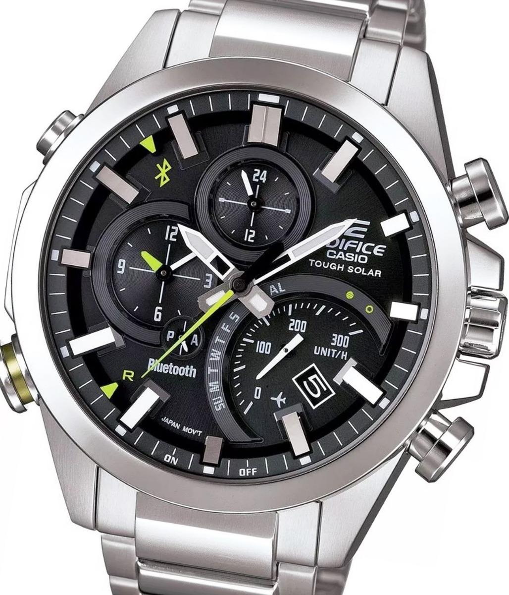 66503d30878e reloj hombre casio edifice cod eqb-500d-1a solar + bluetooth. Cargando zoom.
