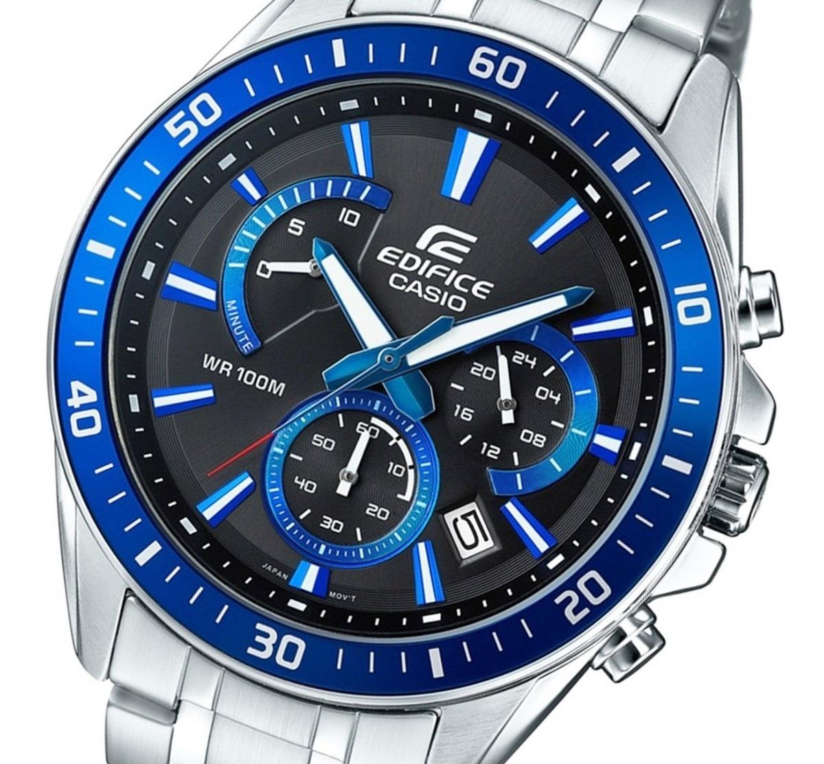 100m 1a2 552d Reloj Edifice Casio Wr Hombre Efr Crono OZiPkXuT