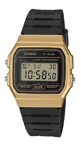reloj hombre casio f-91wm-9a dorado retro / lhua store