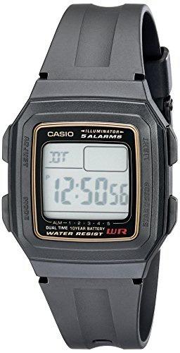 reloj hombre casio f201wa 9a multi function alarm sports