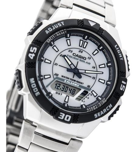 reloj hombre casio solar cod: aq-s800wd-7e joyeria esponda