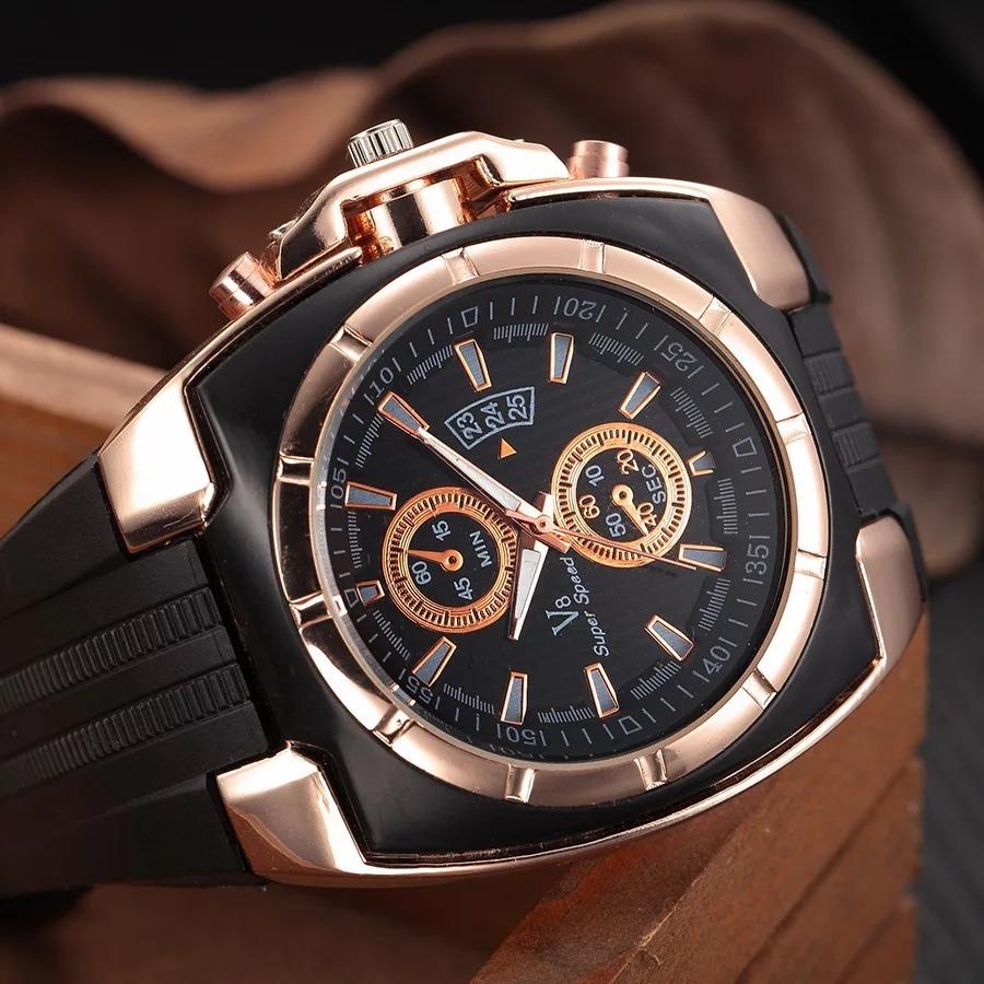 Reloj Hombre Casual Diario Exotico Llamativo Negro Ocre Lujo ... 3b3e4d434b96
