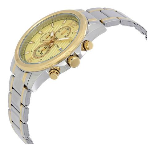 reloj hombre citizen an3554 crono acero wr 50 promo