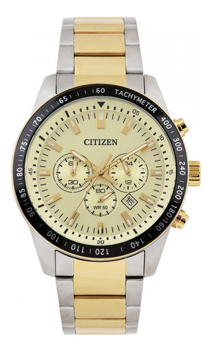 reloj hombre citizen an8076 crono acero wr 50 promo