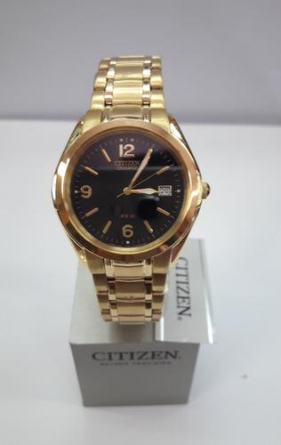 reloj hombre citizen bk230254e. dorado. nuevo. envío gratis.