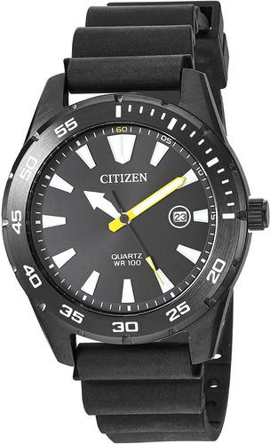 reloj hombre citizen militar bi1045 wr100 agente oficial