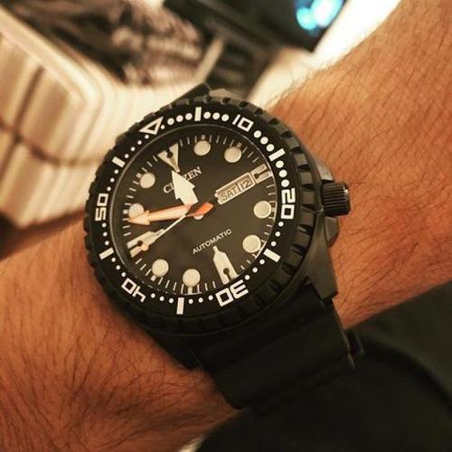 reloj hombre citizen nh8385-11e automatico agente oficial m
