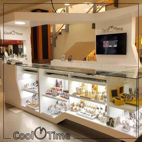 reloj hombre cronografo john l. cook 5716 wr 50m acero inox.