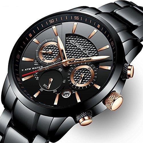 4a813db6a297 Reloj Hombre Crrju De Acero Inoxidable Fecha Casual Reloj De ...
