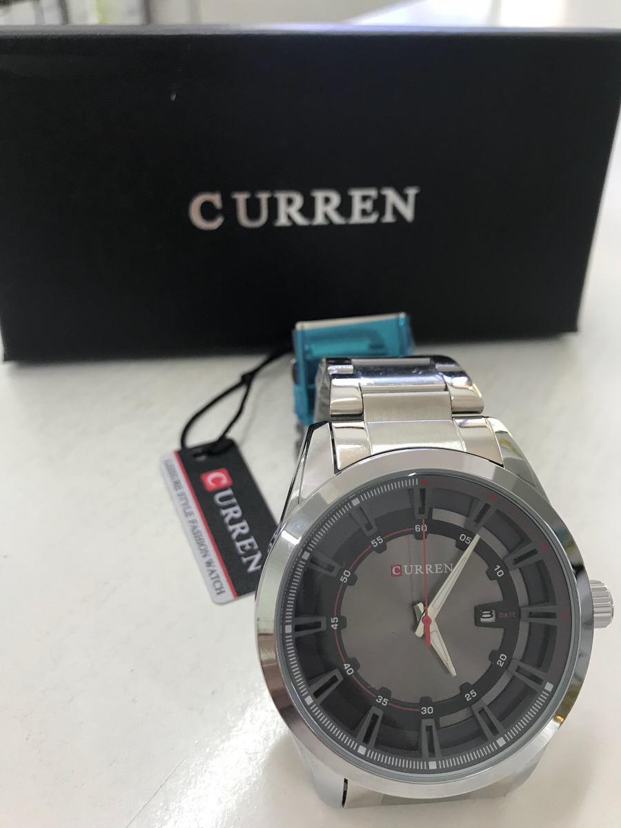 6c5bb0861b4d reloj hombre curren 8083 con calendario y correa de acero. Cargando zoom.