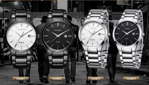 reloj hombre curren 8106 muy elegante y con calendario