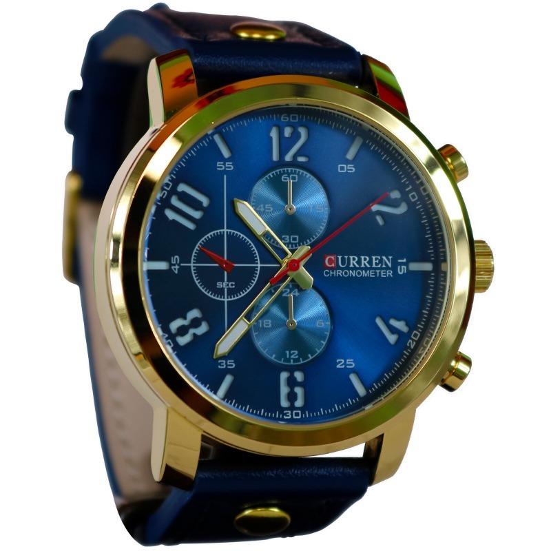 reloj para hombre de marca curren color oro y azul casual. Cargando zoom... reloj  hombre curren. Cargando zoom. 27d2b6453bf2