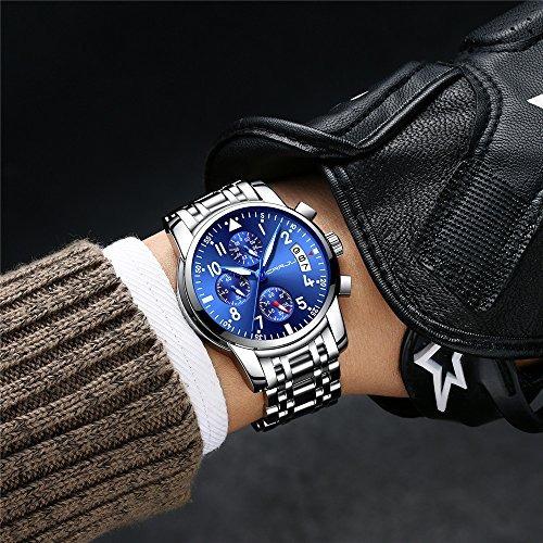 reloj hombre de cuarzo  crrju con la venda del acero inoxida