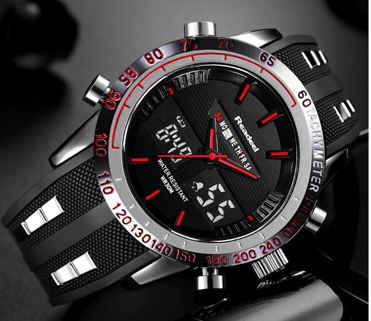 4d808ae1ff3c Reloj Hombre Deportivo Readeel Calendario Negro rojo -   75.000 en ...