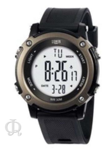 reloj hombre deportivo digital cronometro alarma luz lemon