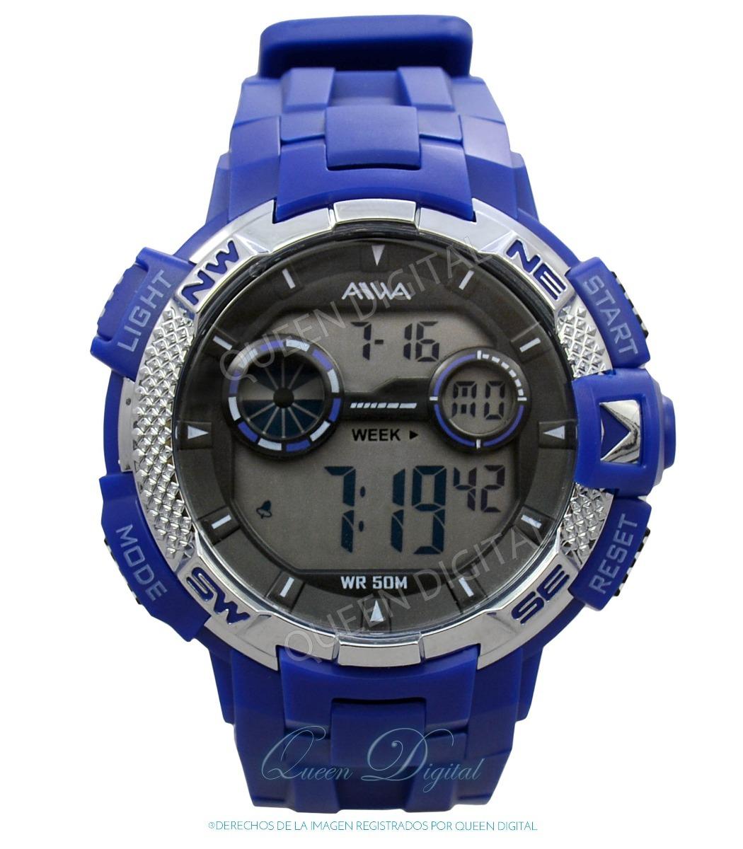 55829a007aa6 reloj hombre deportivo sumergible 50mt crono alarma luz aiwa. Cargando zoom.