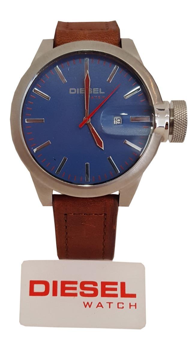 66ef9724089a reloj hombre diesel 6630 azul acero cuero casual elegante. Cargando zoom.