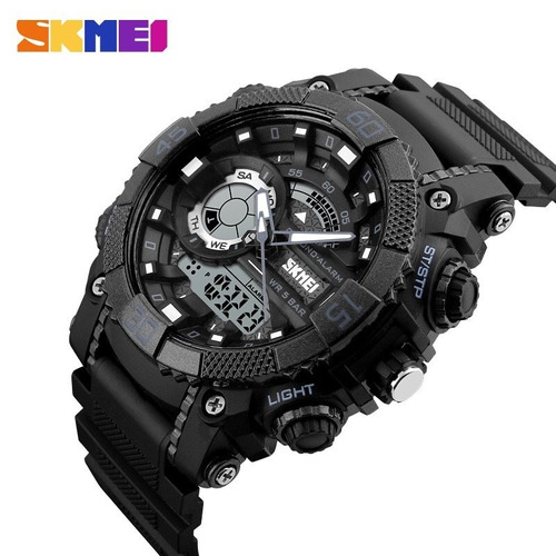 reloj hombre digital analogo sumergible 50m 3 colores