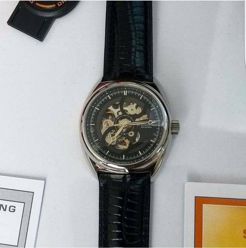 reloj hombre elegante stuhrling original correa de cuero