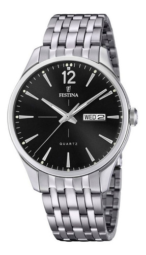reloj hombre festina fondo negro calendario f20204/4