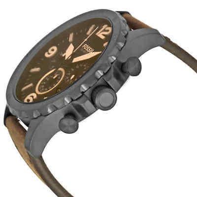 6ad39a907f62 reloj hombre fossil · fossil nate cronógrafo reloj de hombre de cuero marrón .