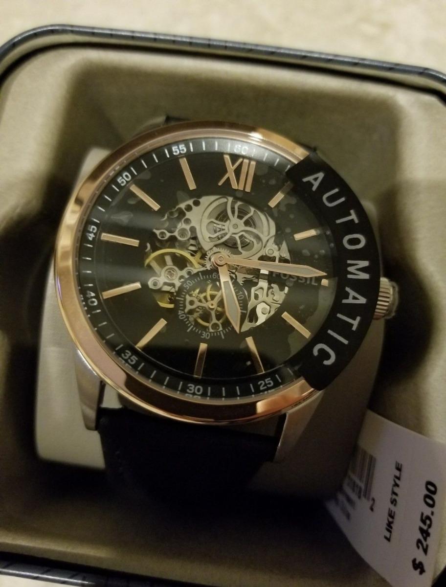 168ad2dd7769 reloj hombre fossil automatico negro 100% original. Cargando zoom.