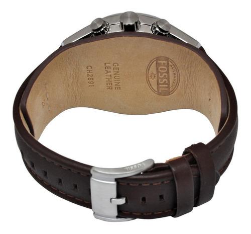 reloj hombre fossil ch 2891 cuero 100% original cronografo