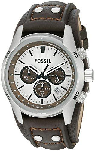 reloj hombre fossil ch2565 cuff chronograph tan vellstore